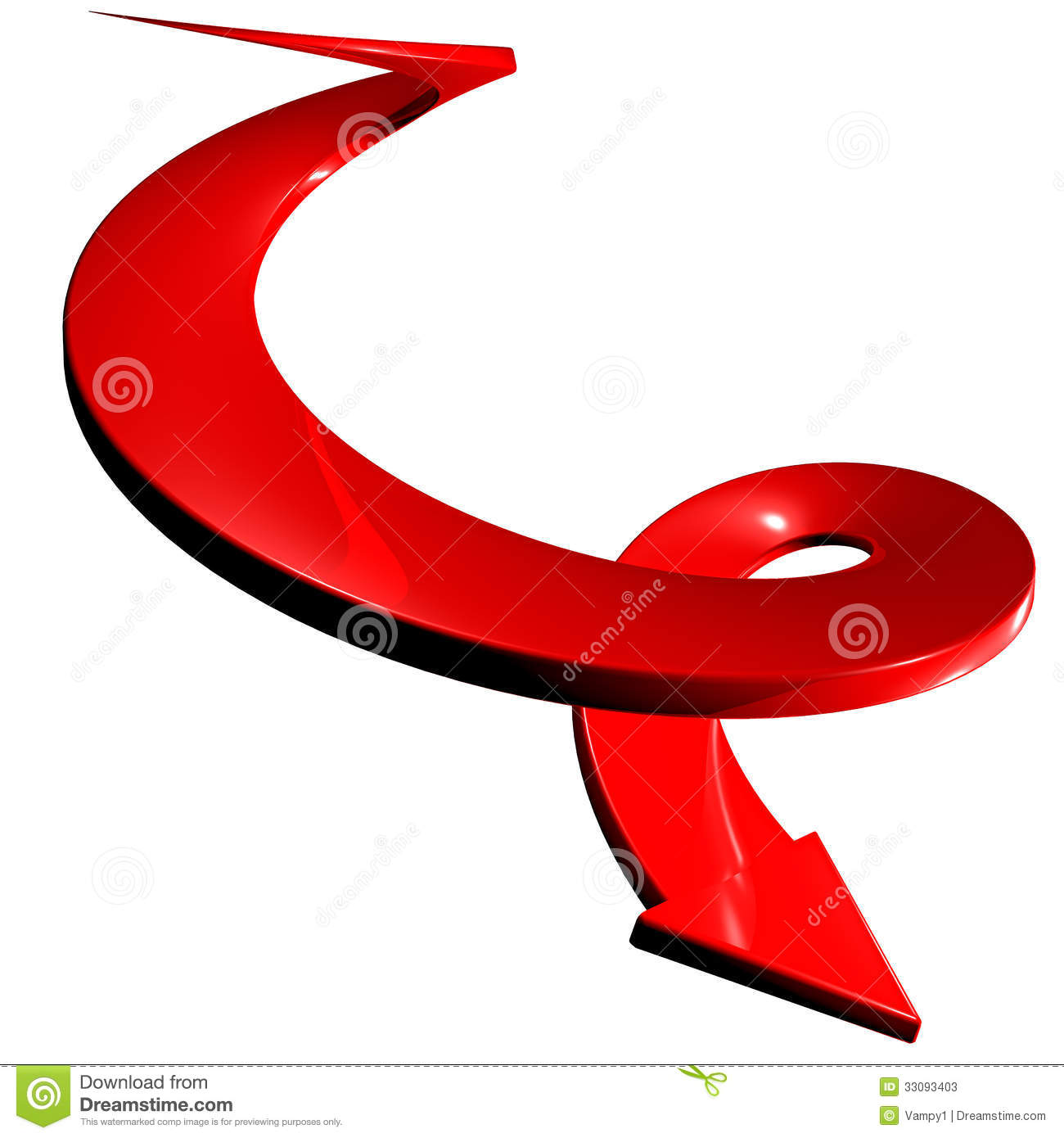 Four Spiral Arrow 3D. Royalty Free Stock Image.