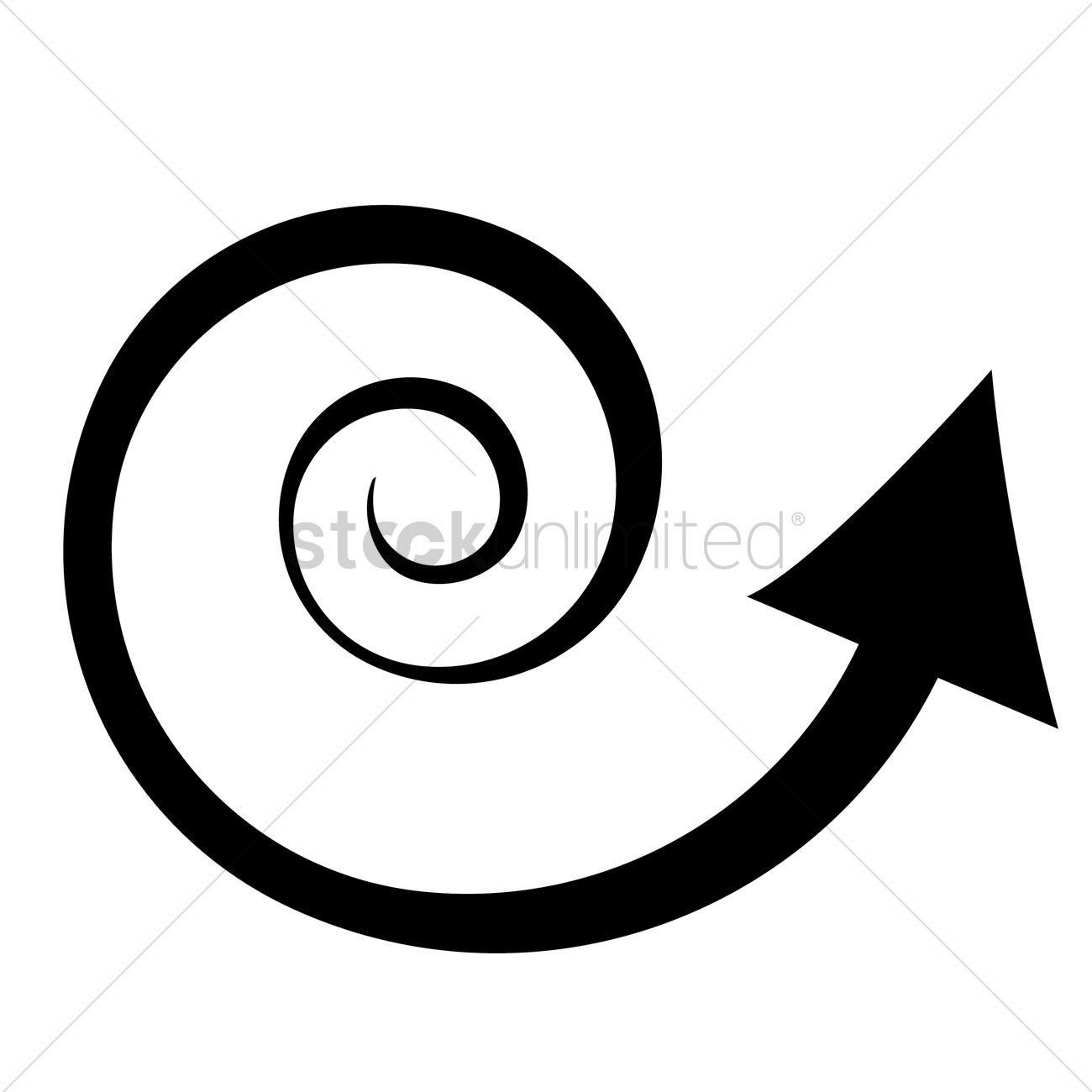 spiral arrow clipart - Clipground