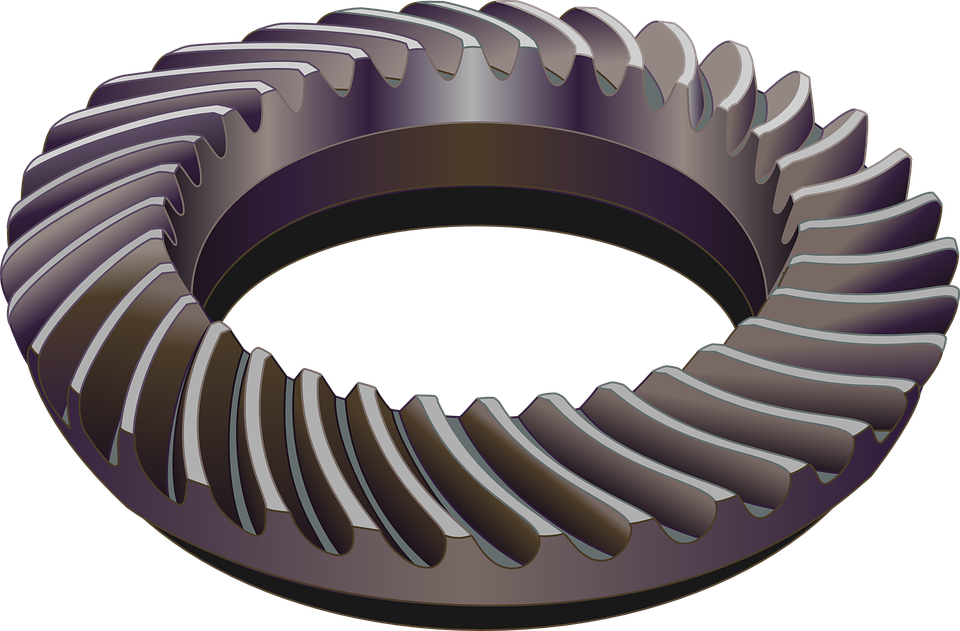 Free photo Gears Spiral Bevel Gears Bevel Gear Toothed Wheels.
