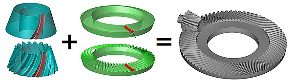 Buy 3d spiral bevel gear modeling software for CNC machining buy.