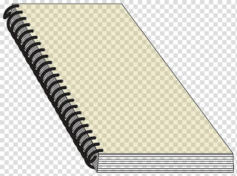 Paper Coil binding Bookbinding Notebook, book transparent.