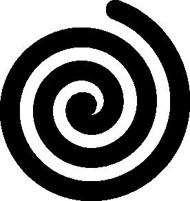 Black Bold Spiral Clip Art at Clker.com.