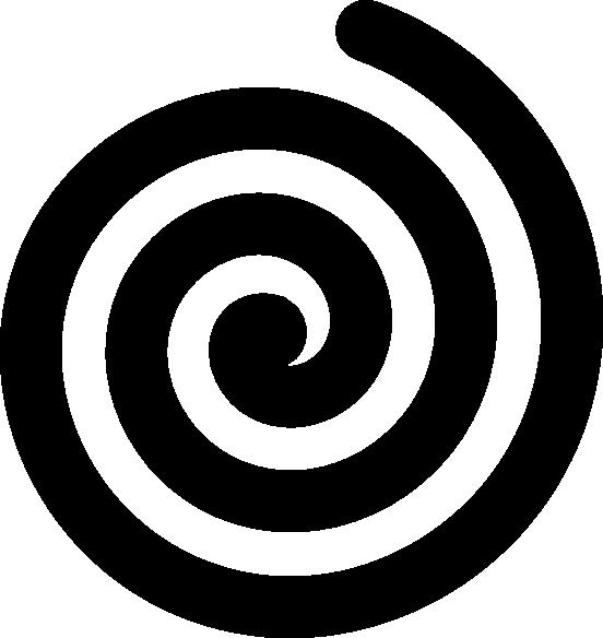 Black Bold Spiral clip art.
