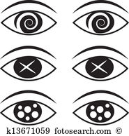 Spiral eyes Clip Art Royalty Free. 615 spiral eyes clipart vector.