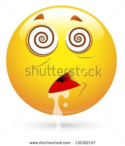 Hypnotized Emoji Smiley Emoticon Stock Vector 377309467.