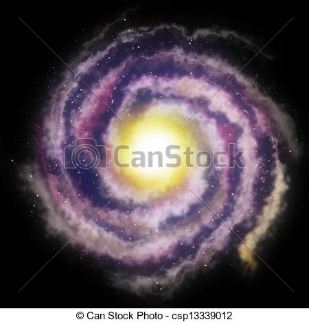 Clipart of spiral galaxy background csp13339012.