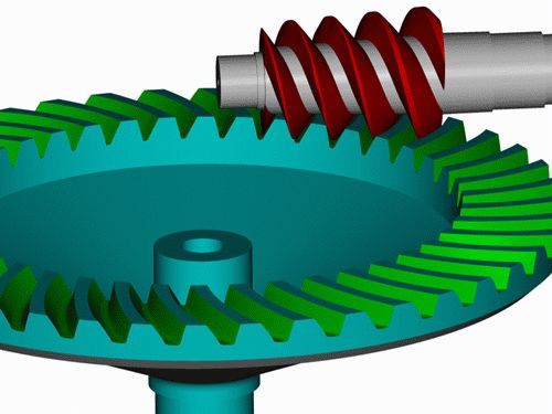 why worm gear cannot be follower.