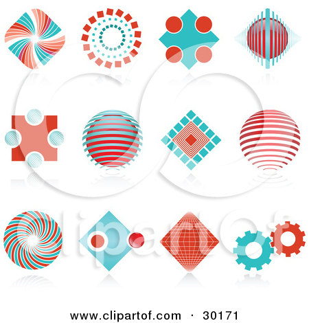 Clipart Illustration of a Large Riveted Circular Gear Moving With.