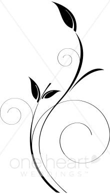 Black and White Vine Clipart.