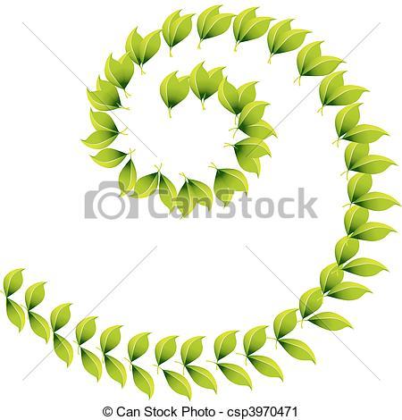Vector Clip Art of Spiral Leaf Design csp3970471.