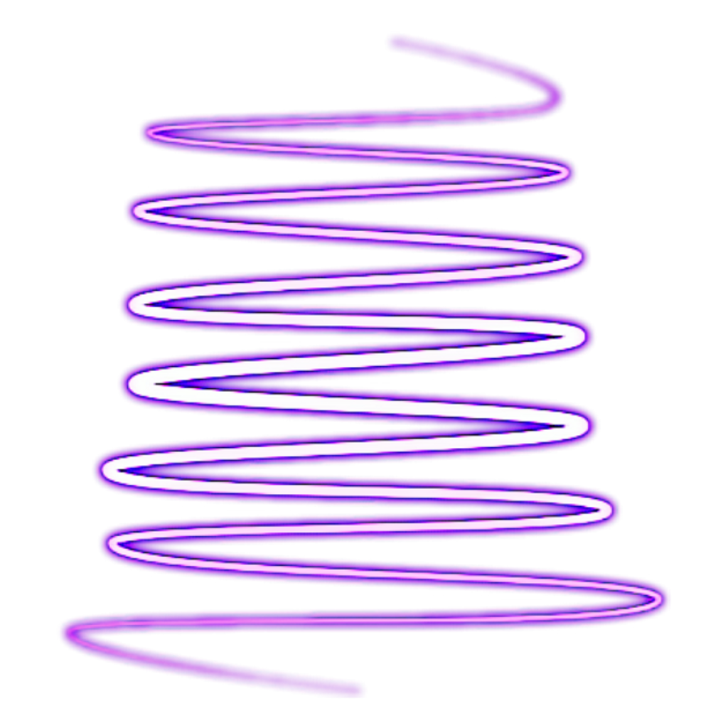 Download Ahmed Sticker Neon Spiral Sign Shape HQ PNG Image.