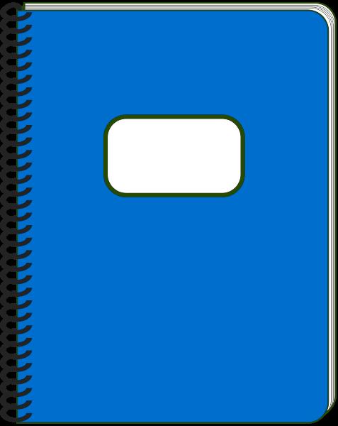 Spiral bound notebook clipart.