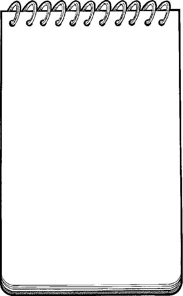 Spiral Notepad Clipart on Green Spiral Clip