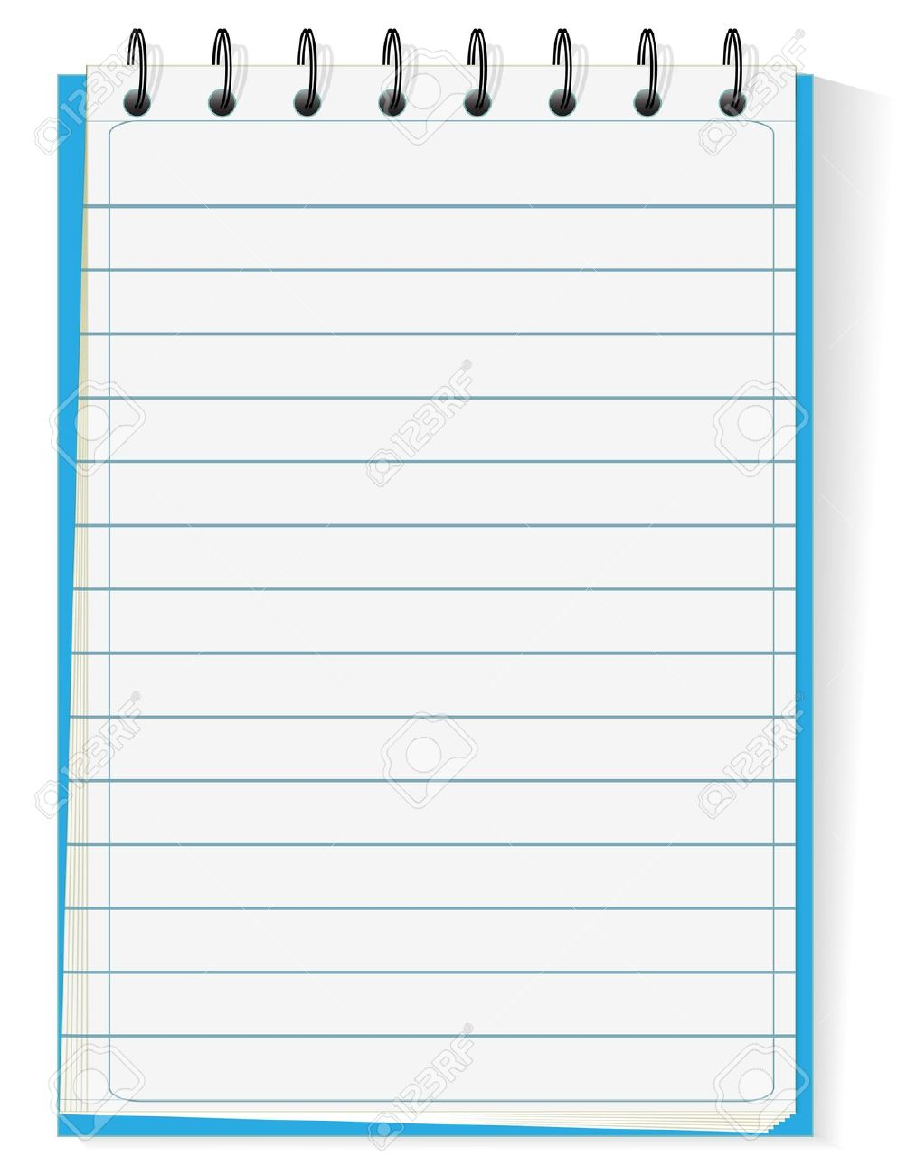 Spiral Notepad Isolated On White Royalty Free Cliparts, Vectors.