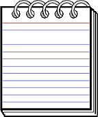 Spiral Notebook Clip Art.