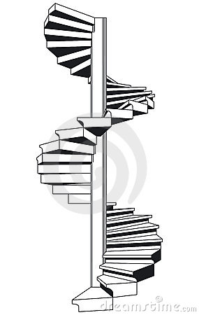 Spiral Staircase With The Fence Vector 02 Stock Images.