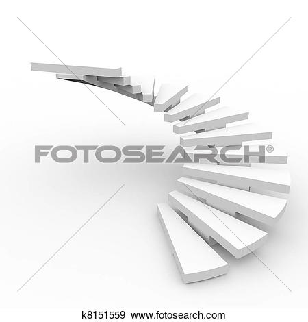 Stock Illustration of Spiral staircase. k8143626.