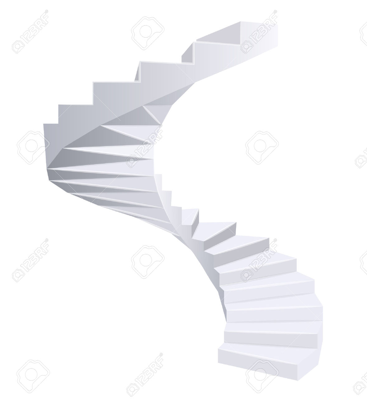 Spiral staircase clipart.