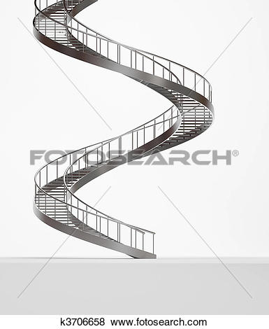 Stock Illustration of Long spiral stairs k3706658.