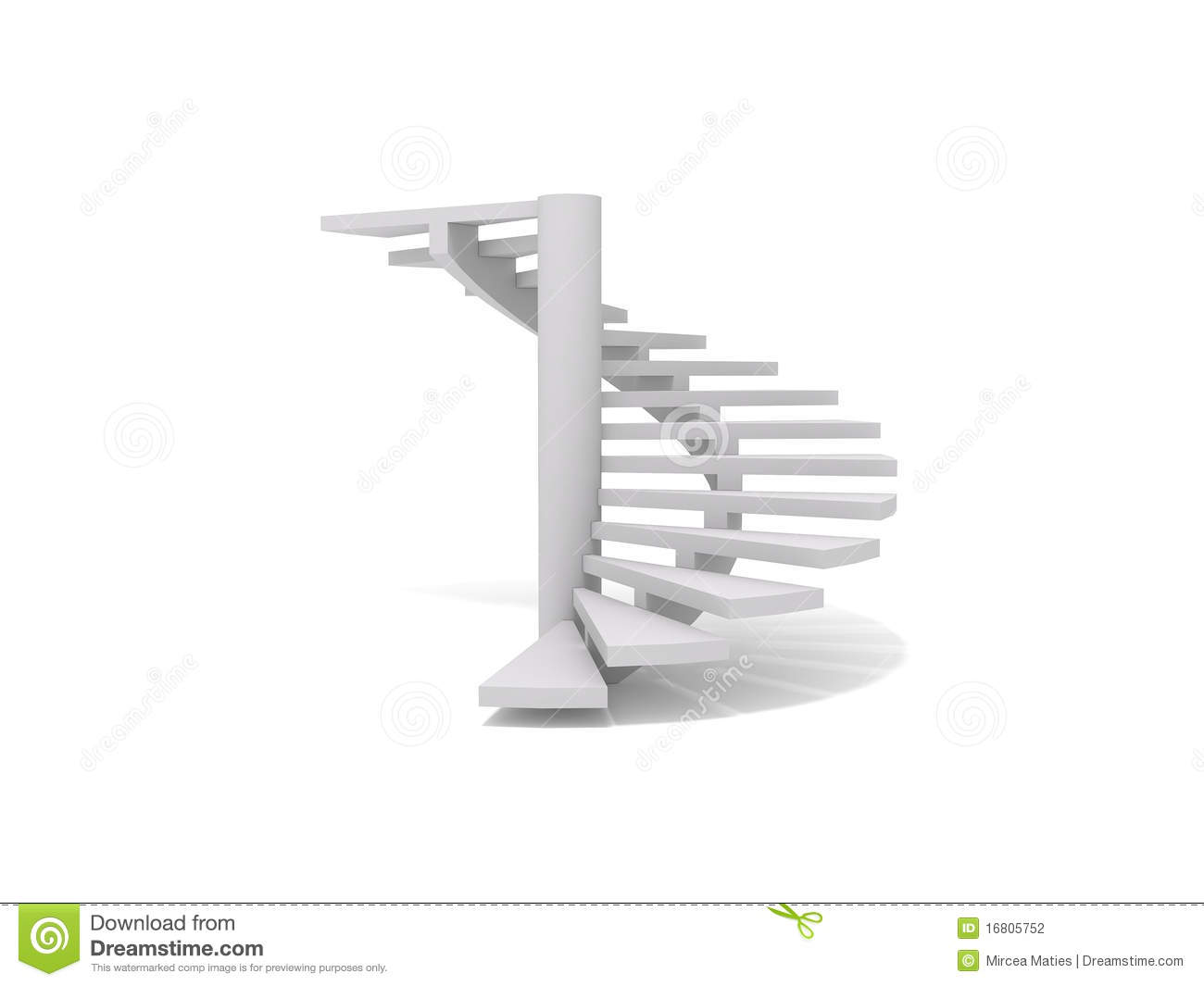 Spiral Staircase Stock Illustrations.