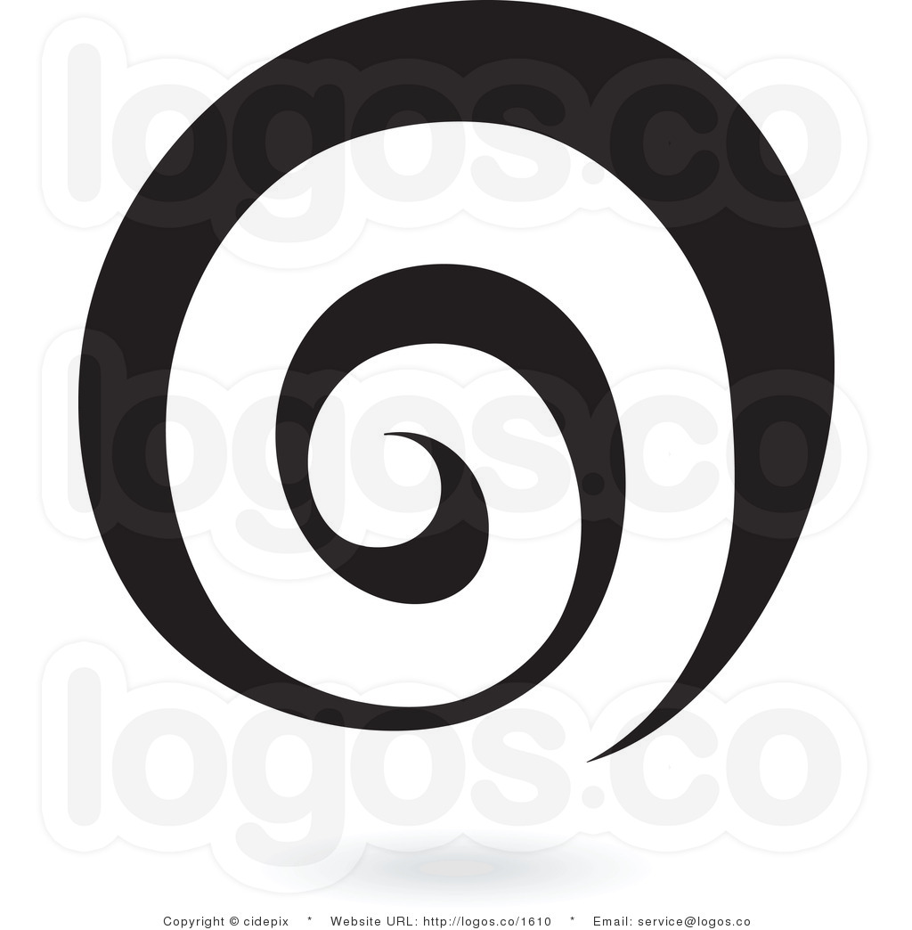 Spiral vector clipart.