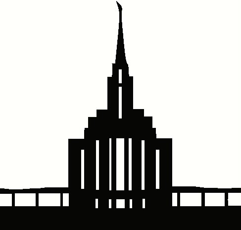 Lds Temple Spire Silhouette Clipart.