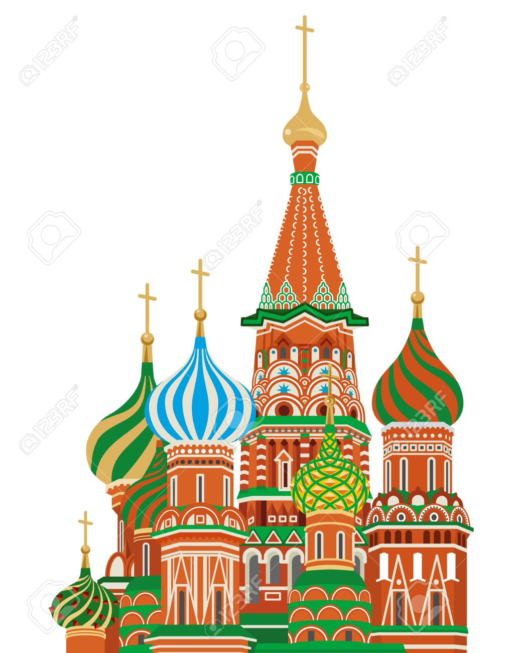 St Basil Cathedral,Isolated Royalty Free Cliparts, Vectors, And.