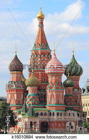 Stock Photo of St. Basil Cathedral in Moscow k16010884.