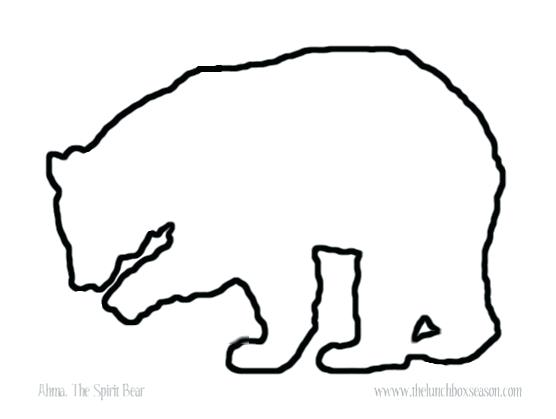 Collection of Bear outline clipart.