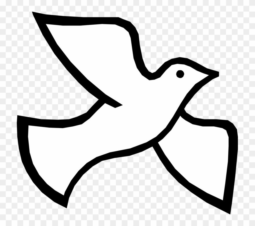 Spirit Vector Image Illustration Of Christian Bird.
