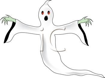 Royalty Free Clip Art Image: Spooky, scary ghost or spirit.