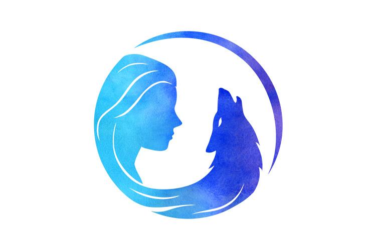 Wild Moon Spirit logo design.