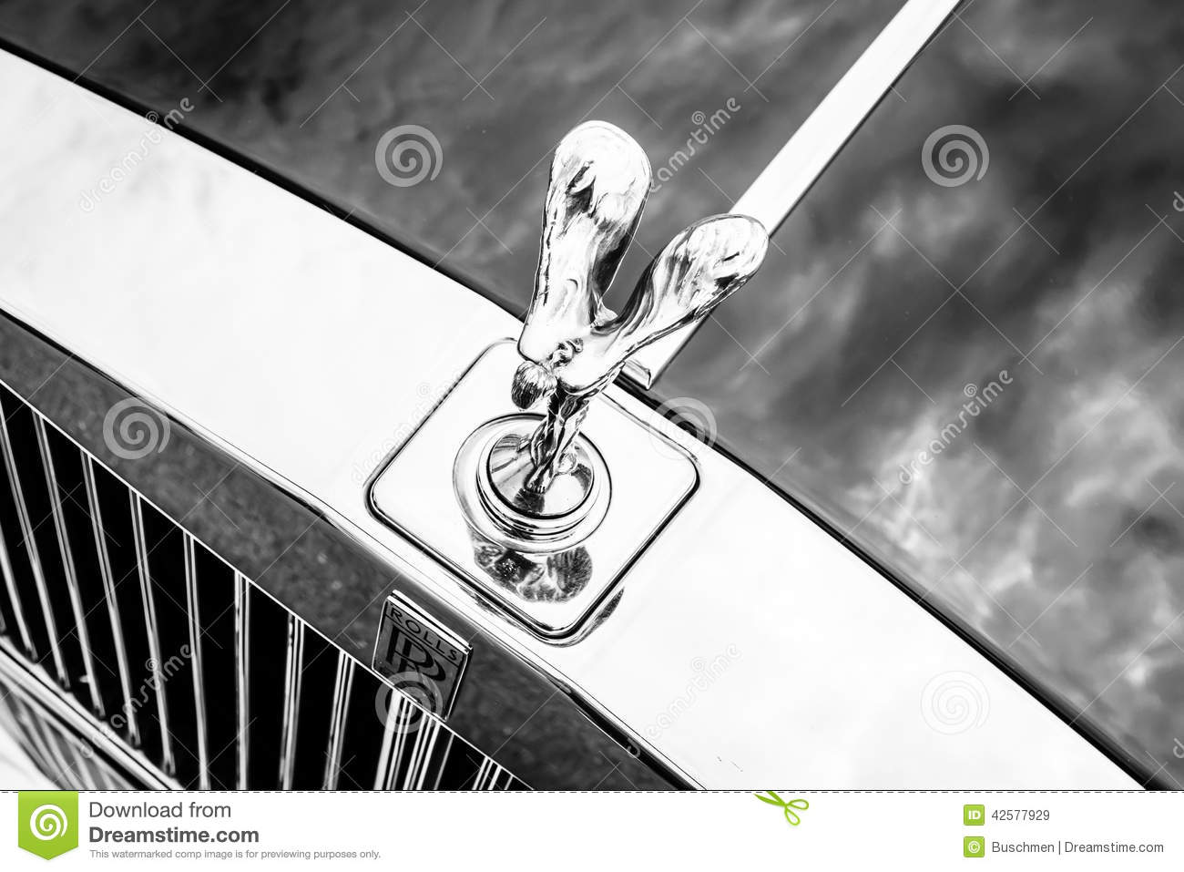 Rolls Royce Spirit Of Ecstasy Editorial Stock Photo.