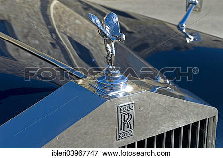 Picture of Spirit of Ecstasy, hood ornament, Rolls Royce Silver.