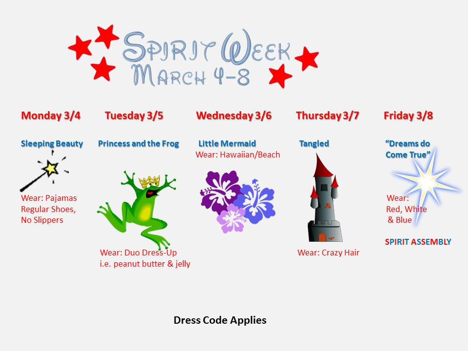 Formal Day Clipart Spirit Week.