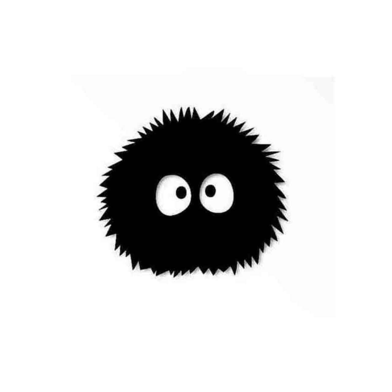 Spirited Away Soot Sprites Logo Decal Sticker.