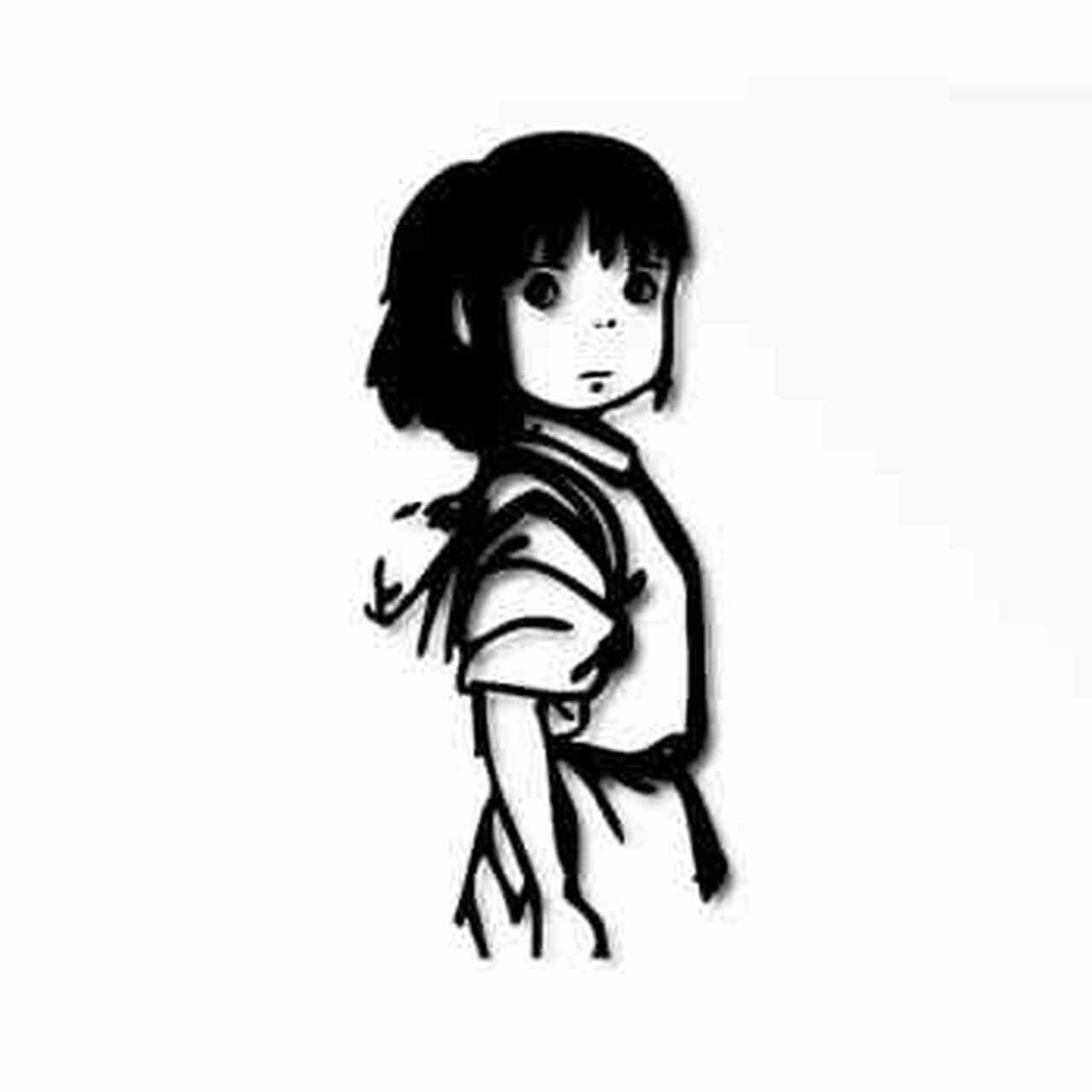 Spirited Away Chihiro Logo Vinyl Decal.