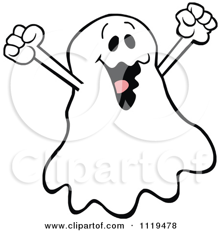 Haunting Halloween Ghost Free Clipart Illustration.