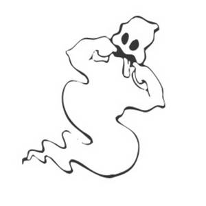 Clipart Picture of a Ghost Making a Face.