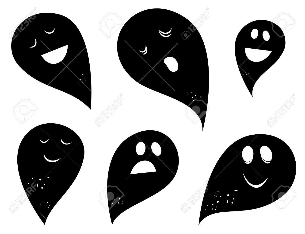Clip Art Ghosts and Spirits.