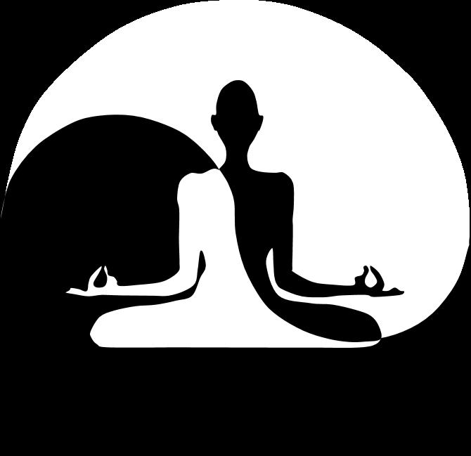 Yin Yan Yoga Clipart.