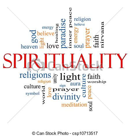 Clipart of Spirituality Word Cloud Concept with great terms such.