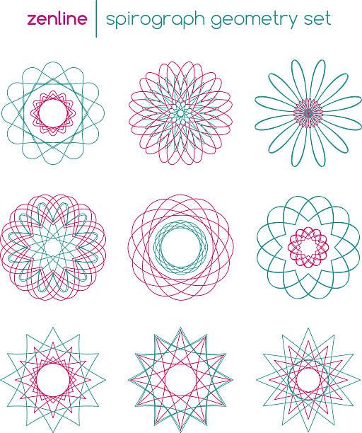 Spirograph Clip Art, Vector Images & Illustrations.