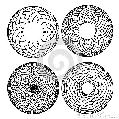 Spirograph Patterns Stock Images.