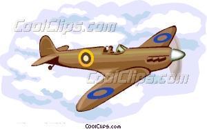 British Spitfire Vector Clip art.