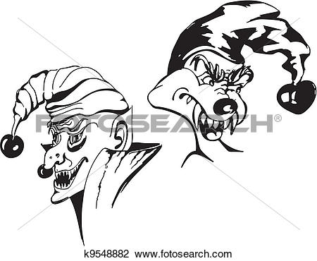 Clipart of Spiteful jokers k9548882.