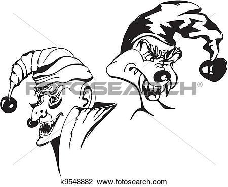 Clipart of Spiteful jokers k9548882.