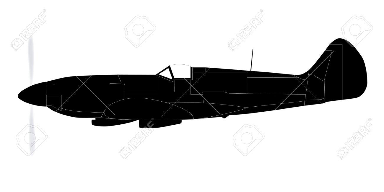 spitfire plane clipart...