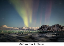Stock Photography of Word NORWAY over Spitsbergen natural world.