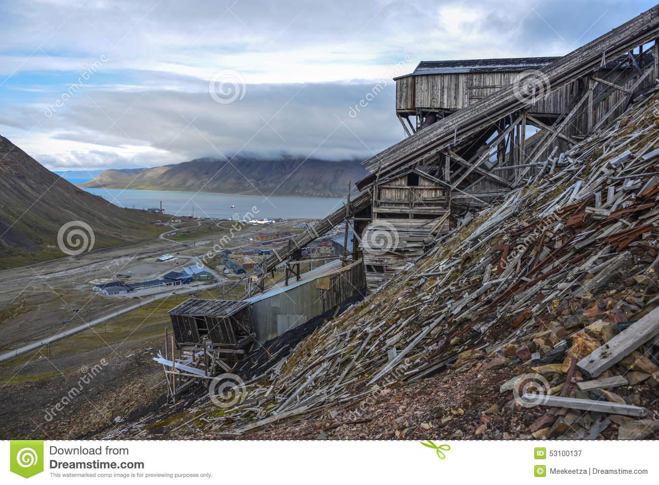 Mine No2 In Longyearbyen, Spitsbergen, Svalbard Editorial.